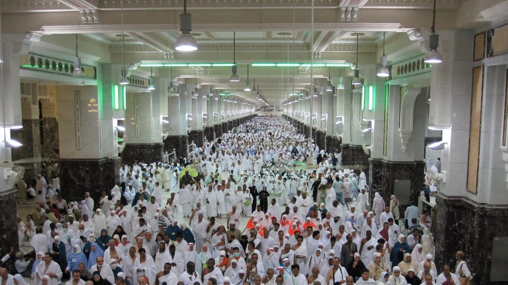Safa and Marwa corridor in the Holy Mosque, Makkah
